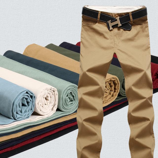 El envío libre 2017 otoño y el invierno de la moda modelos de explosión simple y casual pantalones de los hombres