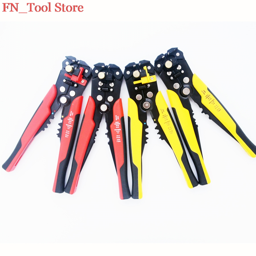FASEN 1pcs New Multi functional Cable wire Stripping AWG24-10 0.2-6.0mm2 straight Cutting Crimping tools Wire stripper