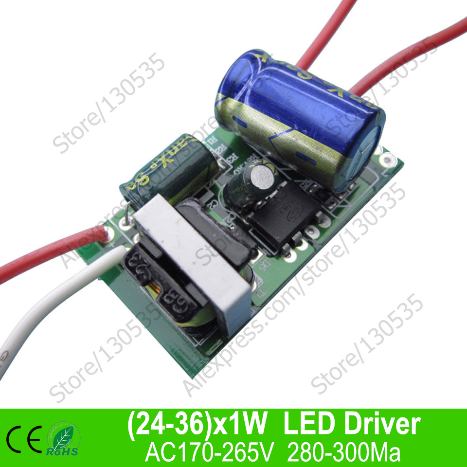 24 36x1w Led Inside Driver Transformer Constant Current 2008 Club Car Iq Wiring Diagram 48v For 24w 30w 36w Indoor Bulb Lamp Lighting Free Shipping