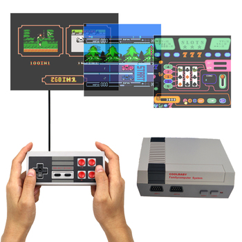 AV Output Game Player Retro Mini TV Handheld Video Game Console For Nes Games Built-in 500 Different Games For PAL&NTSC coolbaby hdmi out retro classic handheld game player family tv video game console childhood built in 600 games for nes mini p n