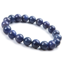 10mm Genuine Natural Tanzanite Blue Gemstone Bracelet Round Beads Stretch Woman Beads Man Crystal Party Bracelet AAAAA Wholesale