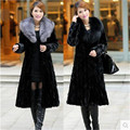Casaco de pele das mulheres tamanho grande senhoras nova moda casaco comprido solto para mantenha quente no inverno casaco casaco de pele de raposa pele de vison Imitado B066