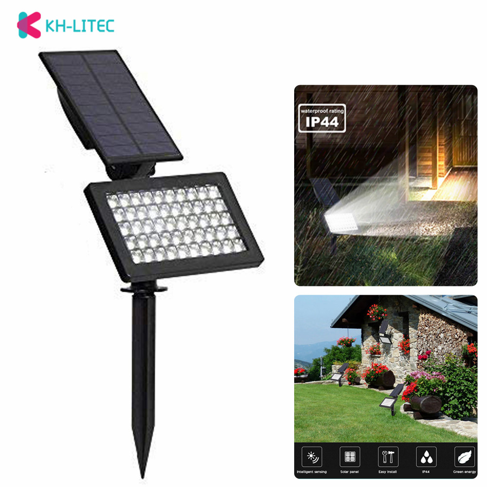 Led Lawn Lamps Precise 50 Leds Solar Light Outdoor Led Solar Powered Garden Lights Waterproof Wall Lamps Lawn Lamp Landscape Spot Lights Spotlight Led Lamps