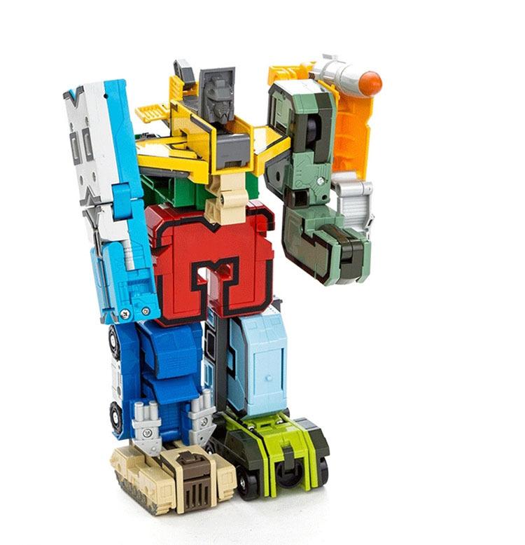 15 шт. творческий сборки конструкторы развивающие конструкторы фигурку трансформация робот номер деформации робот игрушка для детей