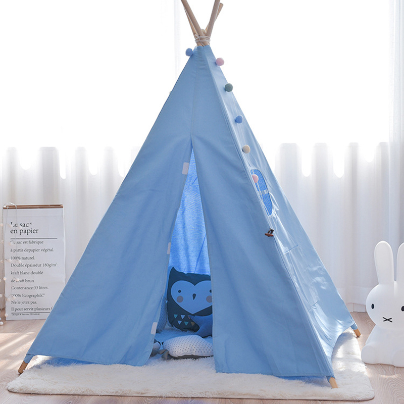 Color : P1nk Childrens Tent Play House Bloomy home Indoor Baby Home