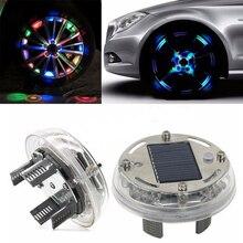 Высокая Qrade 4 режима 12 светодио дный LED RGB Авто Солнечная энергия вспышка колеса шины обода света для авто украшения автомобиля красочная атмосфера лампа