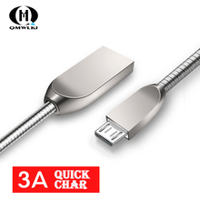 Mobile Phone Data Cable usb Fast Charge 3A Micro USB Type-c  Zinc Alloy Charging line For iphone Samsung S6 S7 Xiaomi