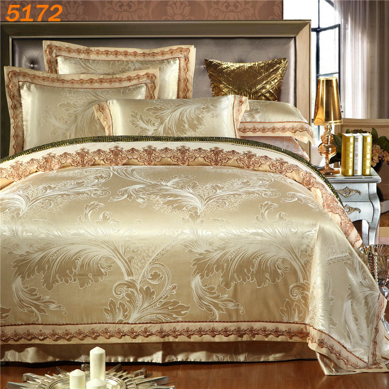 LAFITE ROTHSCHILD Golden Silk Bedding Set Tencel Silk/cotton A/B Side Bed  Set