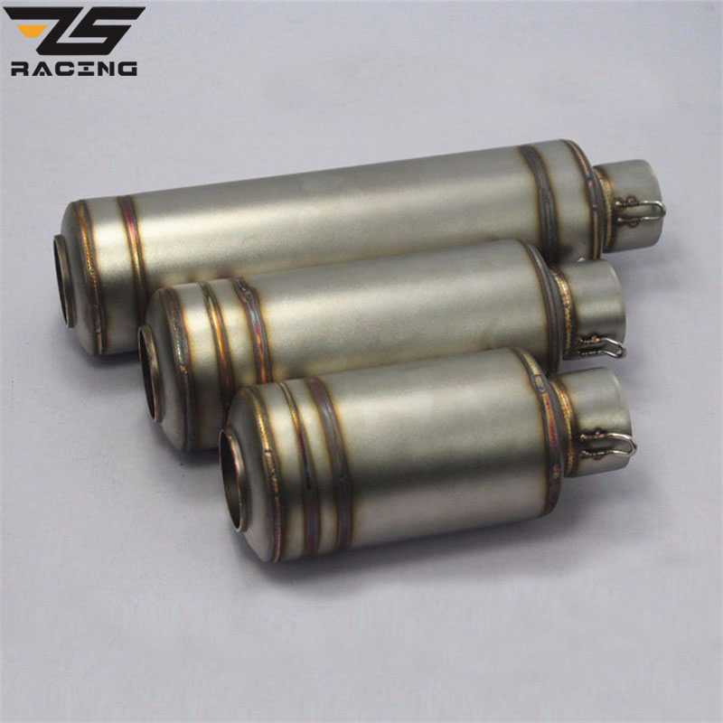 ZS-Racing 51mm Modified Motorcycle Exhaust Escape Moto Muffler Pipe CBR125 CB400 CB400 CB600 YZF R1 R6 GSXR TMAX530