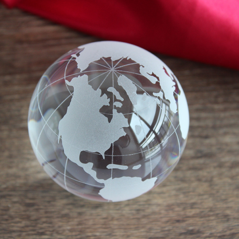 Xintou crystal storm glass sphere world globe ball clear rare feng xintou crystal storm glass sphere world globe ball clear rare feng shui decorative globe world map office home decor craft gift in figurines miniatures gumiabroncs Choice Image