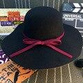Европа и Соединенные Штаты Осень Зима Шляпа Женщина Фетровая Шляпа открытый Шляпа Солнца Бантом Заслуживают Того, Чтобы Играть роль Ткань