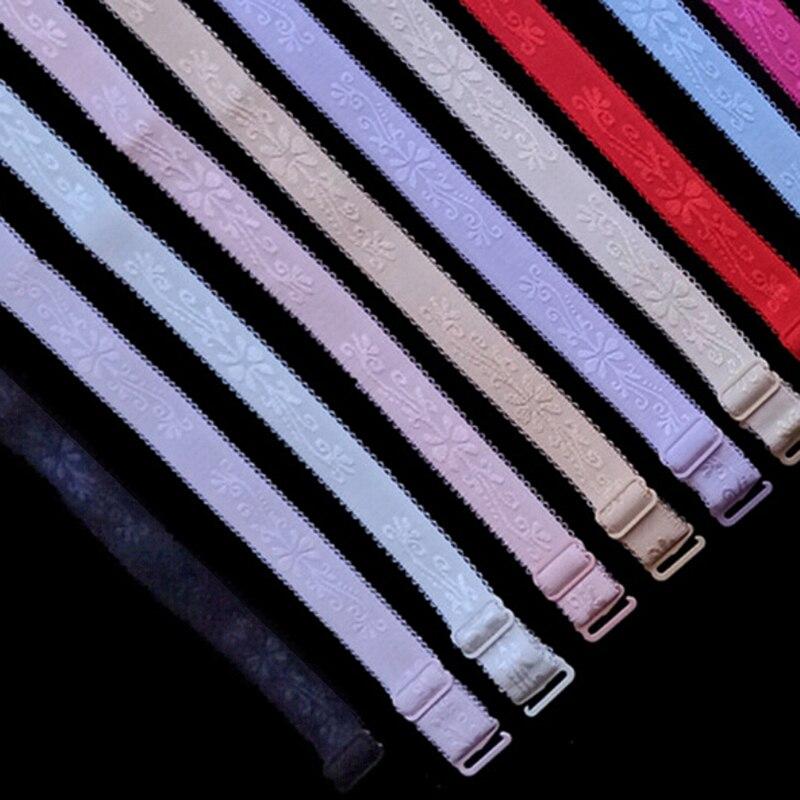 1pair Adjustable Candy Color Double-shoulder  Shoulder Strap Pectoral Girdle Neon Color Elastic Bra Strap Multicolour Underwear