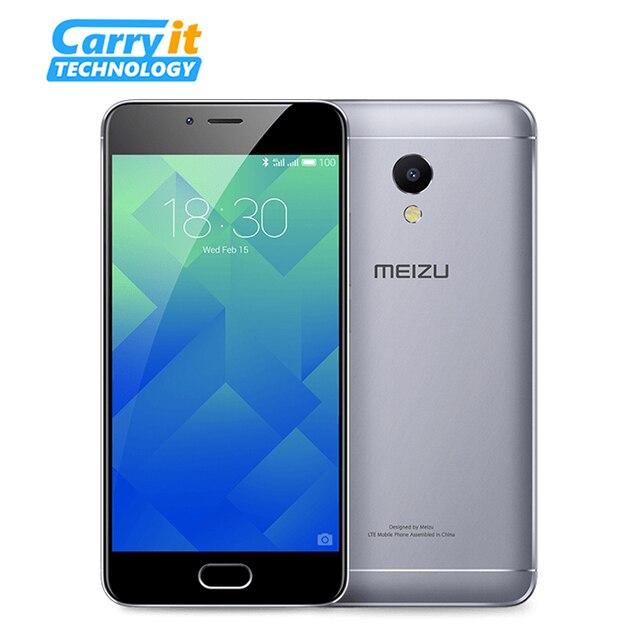 """Оригинальный Meizu M5s 32 ГБ 3 ГБ Мобильный Телефон Android MTK Окта основные 5.2 """"3000 мАч Сотовой Отпечатков Пальцев Быстро заряда"""