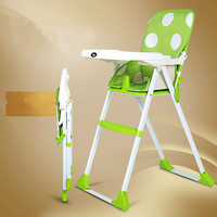 Multifunctional Portable Folding Baby Highchairs Dining Chair Children Eat Food Seat Chair Adjustable Plate Baby Feed Chair
