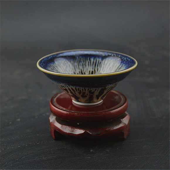 The Song Dynasty color glaze oil drop glaze Doulishan cup small cup of tea Vintage Antiq ...