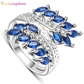 Yunkingdom leaf shape rings for women gold plated anel bijouterie big ring female gifts ALP0792