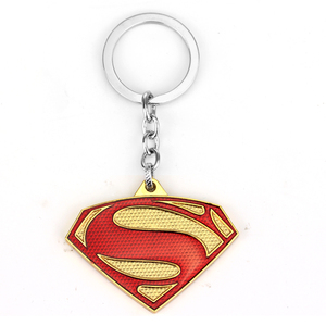 Lowest Price MQCHUN Movie Superman Keychain Superhero S Logo Metal Keyring Gold Silver Color Key Chain For Men Superman Jewelry Car Keychain — bequmcmvl