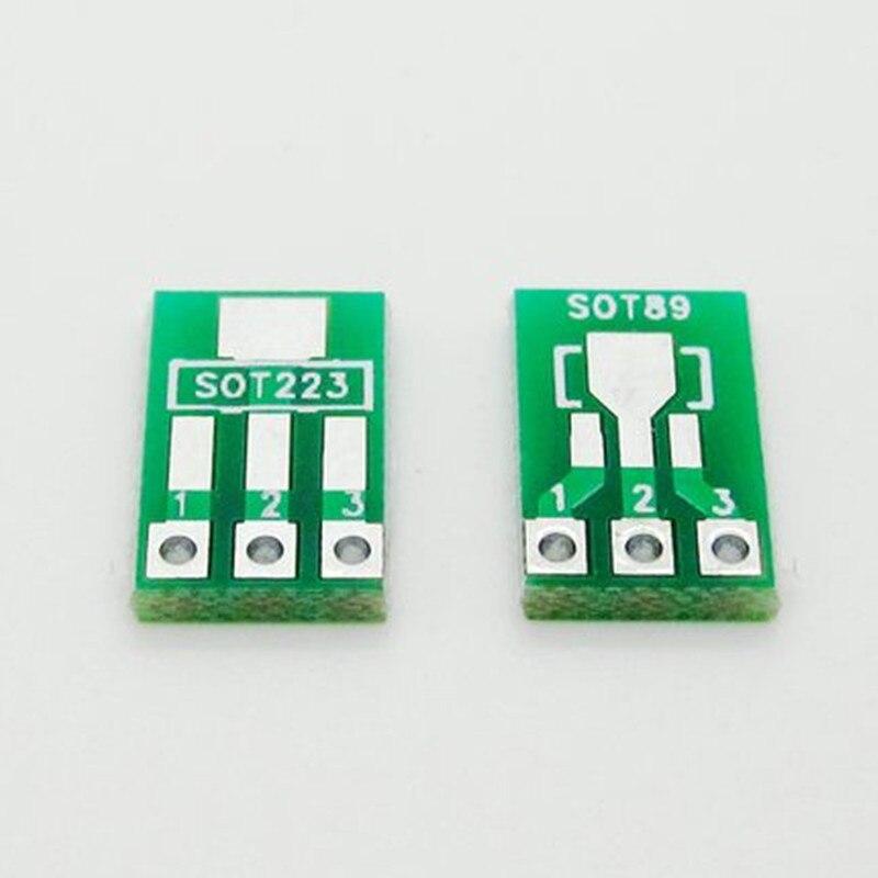 50pcs SOT89 SOT223 to DIP Transfer Board DIP Pin Board Pitch Adapter