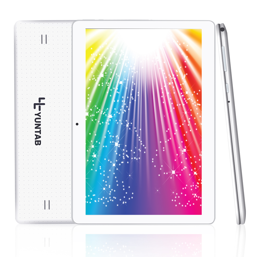 YUNTAB 10.1 inch K107 3G tablet pc Android 5.1 quad core 1280*800 dual camera 0.3MP+2MP 1GB+16GB dual SIM card tablet (white) yuntab k17 tablet pc android 5 1 unlocked smartphone webcam ips1280 800 with dual camera bluetooth4 0 silver alloy