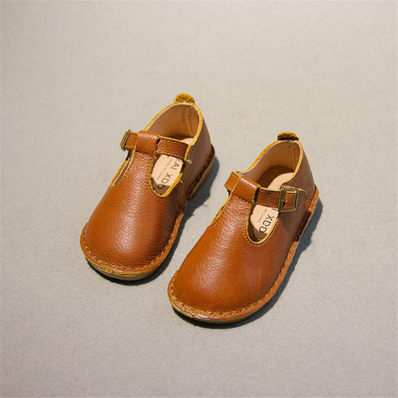 Genuine Leather Girls Shoes 2018 Spring Autumn new Childrens Casual Shoes Girls Fashion Soft Bottom Princess Dance Shoes