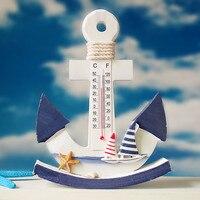 Mediterranean style swing thermometer manualidades anchor decor zakka sea animals home decoration