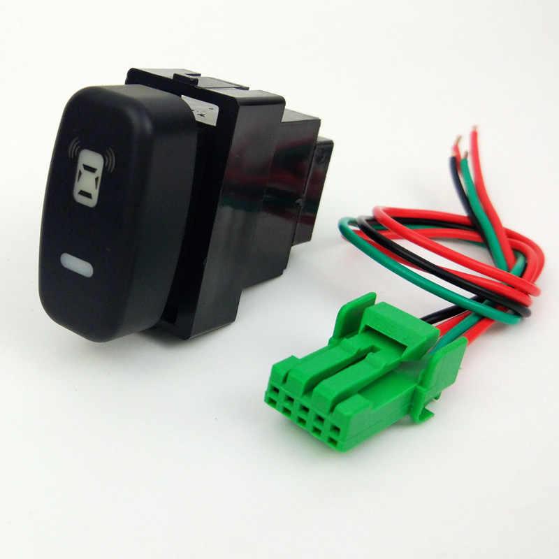 DRL ventilateur LED antibrouillard avant caméra enregistreur moniteur Radar capteur de stationnement bouton de commutation fil pour Mitsubishi pajero sport