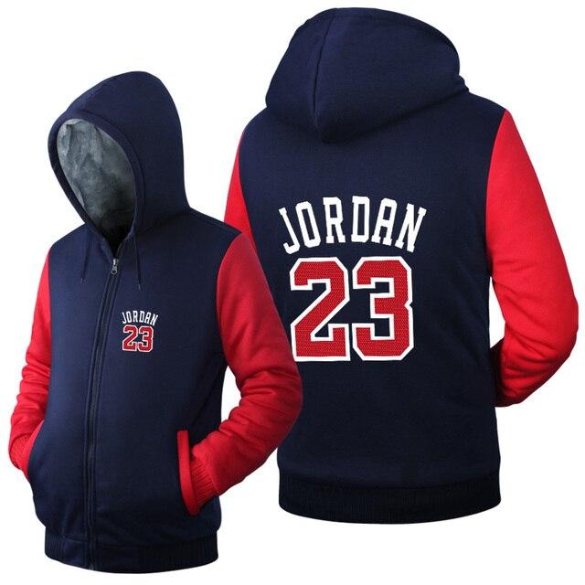 USA size Men Women Jordan 23 Jacket Sweatshirts Thicken Hoodie Coat Clothing Casual