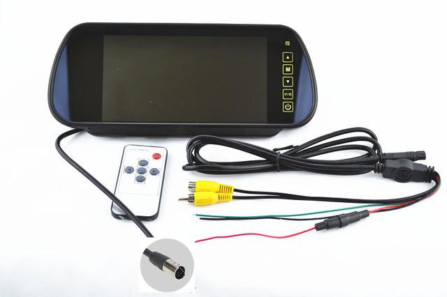 Venda quente! 7 polegada LCD carro espelho retrovisor monitor de backup sensor de estacionamento tela multimídia display Veículo exibição