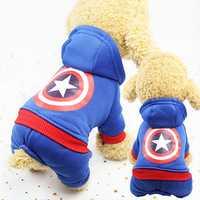 Ropa de Perro con capucha de dibujos animados para perros Ropa para perros abrigo Chaqueta de algodón Ropa Perro Bulldog francés Ropa para perros mascotas Ropa Pug