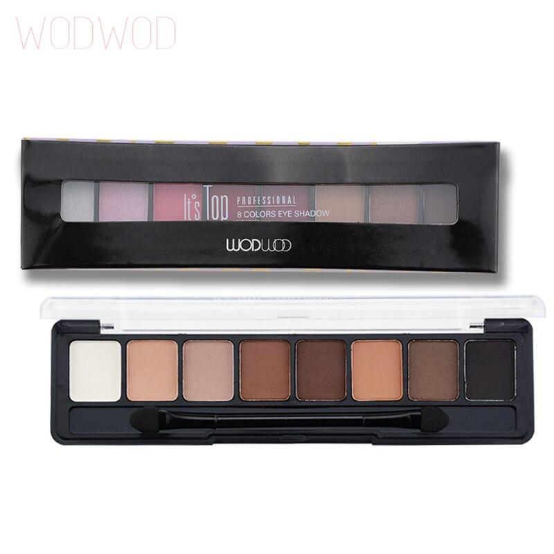 WODWOD Eyes Makeup Professional Eyes Makeup Glamorous Smokey 8 Colors Eye Shadow Palette Daily Make Up Kit Brand