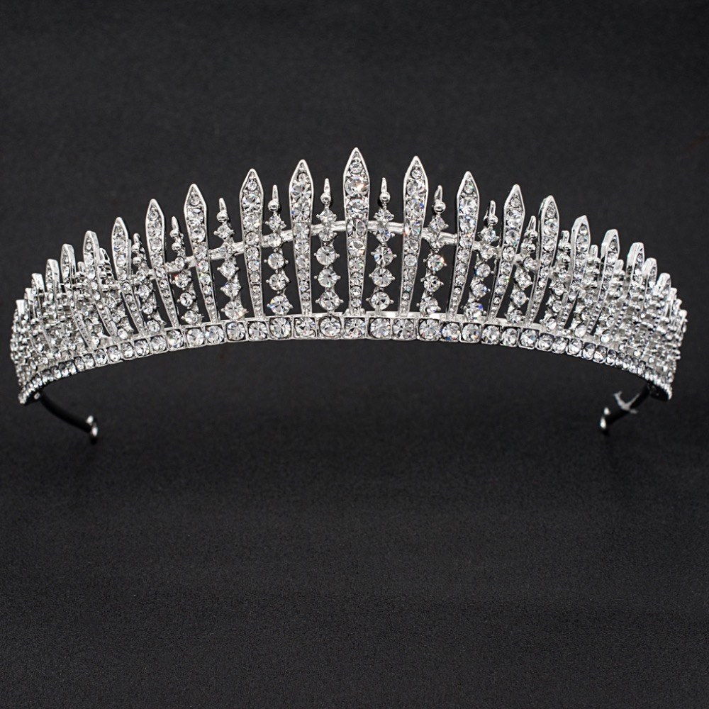 Real Austrian Crystal Rhinestone Wedding Bridal Royal Tiara Crown Women Hair Accessories JHA7758 girl crown crystal barrettes hair accessories shiny rhinestone crystal crown bridal wedding tiara flower child hair ornament