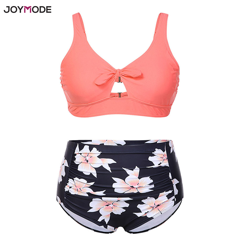 JOYMODE Bikini 2018 Taille Haute Femmes Graisse Maillot de Bain Grande Tasse De Bain Beachwear Push Up Plus La Taille Biquini Mujer Maillot De Bain Femme