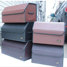 AUTOMOBILE STOWING TIDYING CAR INTERIOR SUPPLIES HIGH QUALITY LEATHER COLLECTION BAG CS21