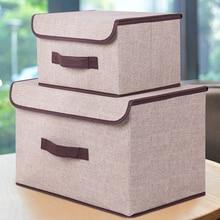 2 размера коробки для хранения с крышками без запаха полиэфирная ткань прозрачные корзины для хранения контейнеры с двойной крышкой Органайзер