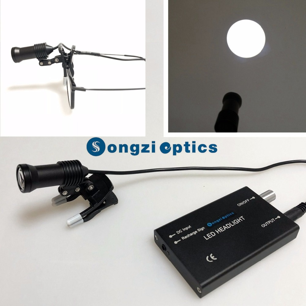 High brightness full variable intensity control Dental Surgical Headlight With Circular Light Spot
