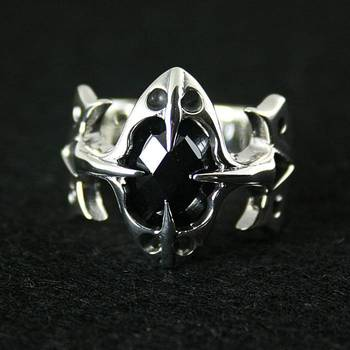 925 pure silver ring cross thai silver ring male ring female vintage ring