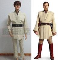 Star wars obi-wan kenobi jedi master tunika halloween cosplay kostüm nach maß für männer neujahr gift jede größe