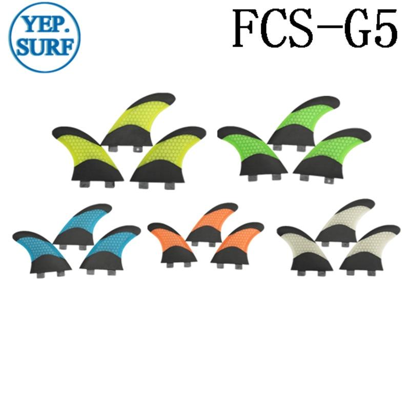 FCS G5 Surfboard Fin Bicolor Honeycomb Fibra de vidrio Aletas de - Deportes acuáticos