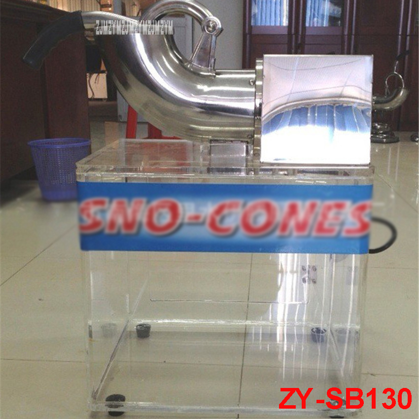 ZY-SB130 110V/220V Double Blades Commercial Ice Crusher Shaver Snow Cone Making Machine 200W stainless steel Material 180kg /h edtid electric commercial cube ice crusher shaver machine for commercial shop ice crusher shaver