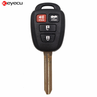 Keyecu 3 + 1 Botón Del Control Remoto Clave Fob con H Chip para Toyota Camry 2015 FCC ID: HYQ12BDM