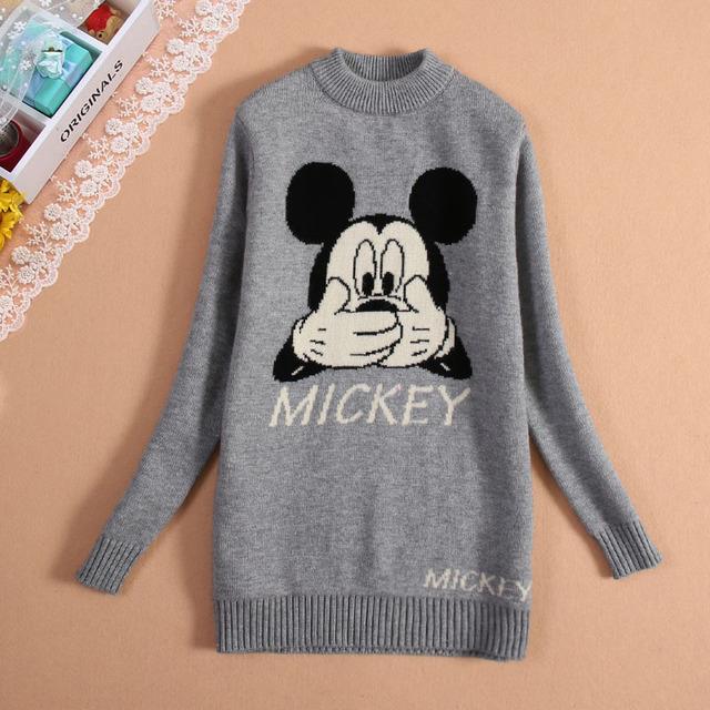 Engrosamiento de la capa doble del diseño largo de niña suéter arropa el suéter niño camisa básica de la cadera delgada de invierno