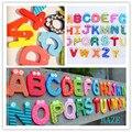 26 Alfabeto De Madeira Imã de geladeira Educacional Estudo Brinquedo Para Crianças Do Bebê Dos Miúdos