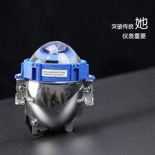 Автомобильные светодиодные фары H7 9006 H4 35 Вт 40 Вт 6000 К высокую ближнего света автомобиль-Стайлинг модификация bi Светодиодный проектор Объектив фара