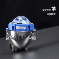 Car LED Headlight H7 9006 H4 35W 40W 6000K High Low Beam Car styling Modification Bi LED Projector Lens Headlight