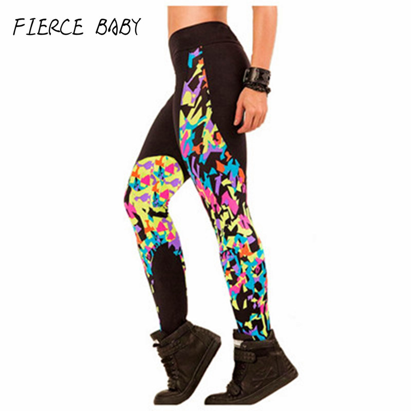 Prix pour Fitness Pantalon Femmes adventure time punk rock harajuku noir lait push up Fitness Course Collants Femmes gym Musculation Vêtements