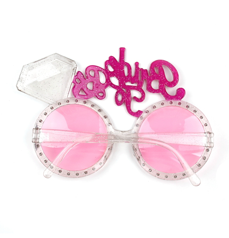 3dd6660d319 FENGRISE Bride to Be Glasses Bling Pink Diamond Ring Bachelorette ...