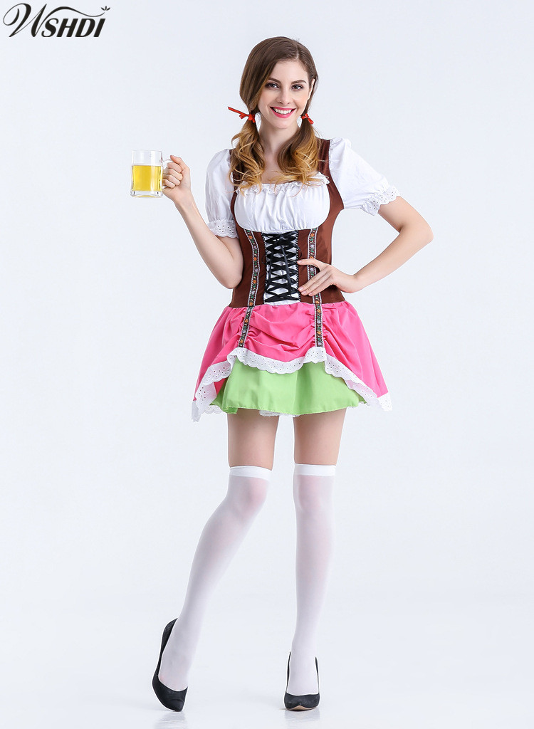 2018 Women's Sexy Germany Oktoberfest Bavarian County Beer Girl Ladies Wench Waitress Serving Maid Dirndl Fancy Dress