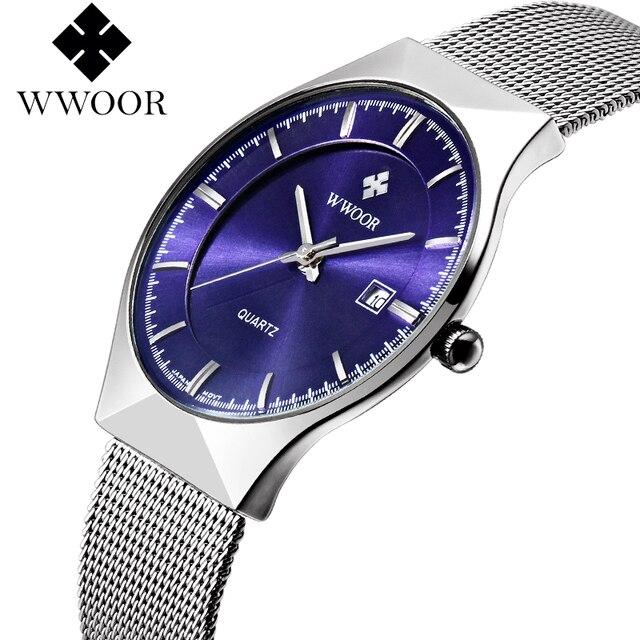 Men's Watches New Top Brand Luxury Waterproof Ultra Thin Date Clock Male Steel Strap Casual Quartz Watch Men Sport Wrist Watch