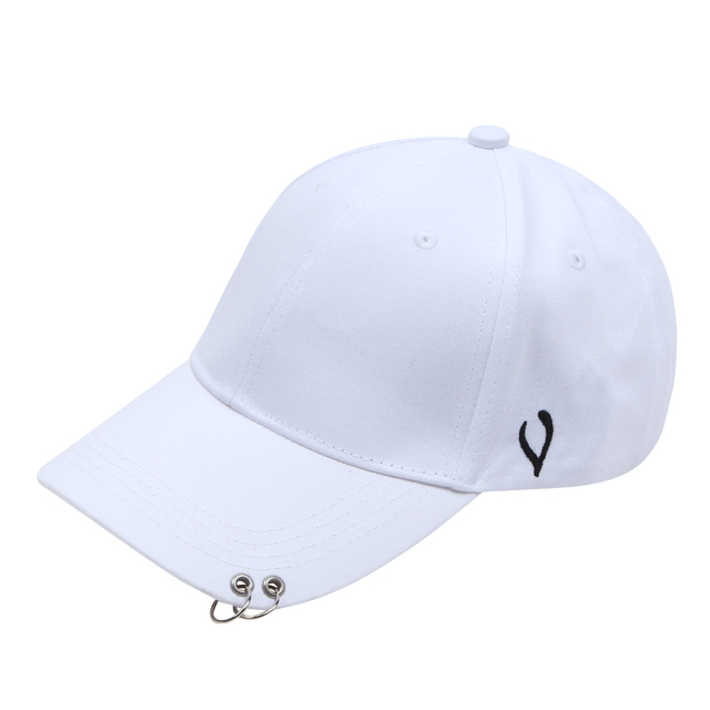 Black White Hoop Cap Curved Eaves Baseball Cap Hip-Hop Hat Men Women  Outdoor Sports Ring Summer Fashion Solid Unisex Sun Hat 2247193434e2