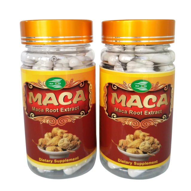 2Bottles Maca Extract Powder Capsules 450mg x180counts Enhance energy free shipping